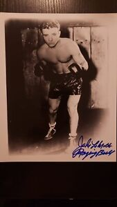 JAKE LAMOTTA Autograph Photo Auto RAGING BULL BOXINg