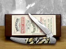 SCHATT & MORGAN Deer Stag and Black Pearl 1/50 Toothpick Pocket Knives Knife