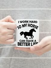 11 oz Horse Lovers Mug Great Gift for Equine Lovers Charity Sale