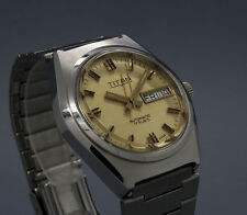 New Old Stock TITAN AUTOMATIC vintage watch NOS AS 5206 slightly turned indices