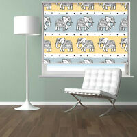 Elephants Seamless Animal Pattern Printed Photo Picture Roller Blind Blackout