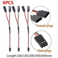 6pcs Servo Extension Cord Lead Y Wire Receiver Cable For RC Car Toy Connector
