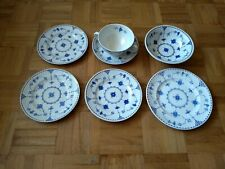 Collection of 7 Furnival/Mason Blue & White Vintage China - plates, bowls
