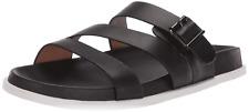 BLONDO New Selma Slide Footbed Sandal Mule Women's 10 Waterproof Leather BLACK