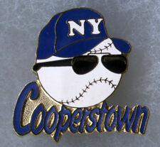 "COOPERSTOWN NEW YORK HOME OF BASEBALL SUNGLASSES LOGO 1.25"" SOUVENIR PIN BUTTON"