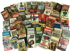 Lot of 69 WORLD WAR II PAPERBACK NOVELS MILITARY Fiction & NON Pulp COMBAT WW2