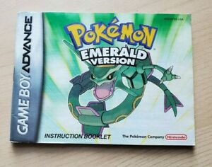 (No Game) Pokemon Emerald Version Game Boy Advance manual only