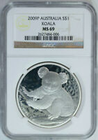 2009 .999 Silver Koala NGC MS69 One Oz Australia Coin Mint State MS69