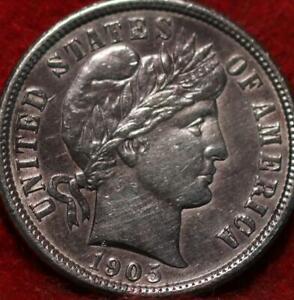 1905 Philadelphia Mint Silver Barber Dime