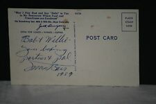 1959 Max Baer Signed & Dated, Jack Dempsey/Jess Williard Postcard, JSA Letter