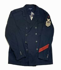 Polo Ralph Lauren Mens Jacket Blue Medium M Military Double Breasted $398 #139