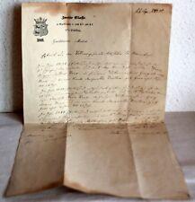 ALTES SCHRIFTSTÜCK von 1849 - Rendsburg 7.6.1849