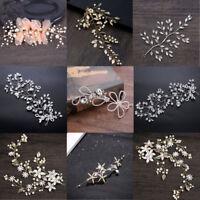 Fashion Bridal Princess Wedding Party Tiara Hair Clip Flower Crystal Headpiece