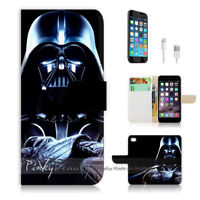 ( For iPhone 8 ) Wallet Case Cover P0077 Starwars Darth Vader