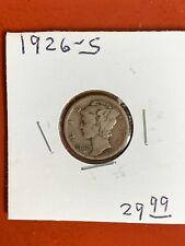 1926-S 90% Silver Mercury Dime