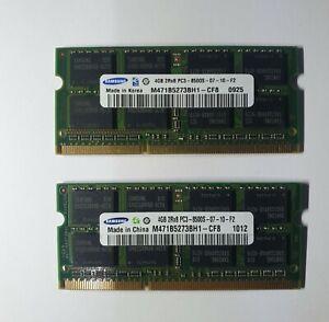 Samsung 8GB 2x4GB DDR3 1066MHz PC3-8500S SODIM Memory RAM 204Pin apple mac