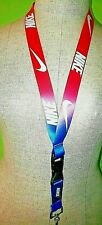 NIKE MULTI COLOR  LANYARD KEY-CHAIN REVERSIBLE ID holder
