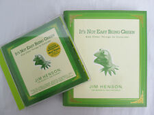 Jim Henson It'S Not Easy Being Green Hardcover Book and Audio Book Cd