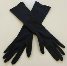 Vintage Black Mid Arm Length Stretch Gloves Size OSFA (will fit up to an L)