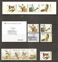 Portugal Azores SC # 388a Birds, 389-390a Europa, 391-94- 394b Professions MNH