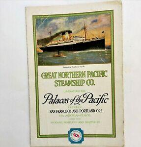 Vintage Ocean liner brochure