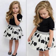Toddler Kid Baby Girls Cloth T-shirt Tops+Tutu Skirt Dress 2pcs Outfits Set 4-5T