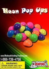 "250 Neon Pop Ups In 1"" Vending Capsules"