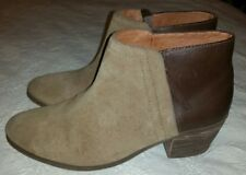 Madewell $210 The Cait Boots Shoes Leather Tan Suede Booties E2237 Sz 8.5