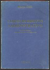 LIBRO  -  BOOK CORSO DI DIRITTO AMMINISTRATIVO CEDAM ROCCO GALLI