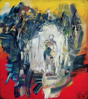 Heiko Pippig *1951 Leipziger Schule: Höhle Kristallwelt Acryl-Gemälde 165 x 145