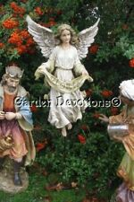"Color Gloria Angel 25"" Outdoor Garden Statue with Stand Best Nativity Set Yet"