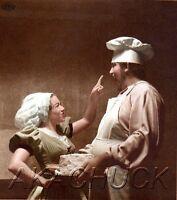 Baker Tempts Girlfriend w Pie Cake HENDRICKSON PHOTO Original Artist Studio D797