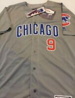 Javy Baez Chicago Cubs Jersey Gray Majestic Flex Base Mens Medium-2XL