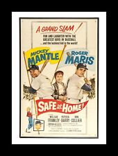 "NEW YORK YANKEES MICKEY MANTLE & ROGER MARIS MATTED PHOTO OF MOVIE ""SAFE AT HOME"