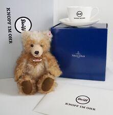 STEIFF VILLEROY & BOCH LIMITED EDITION! Benotime Mohair Teddy Bear + Coffee Cup