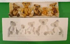 TEDDY BEAR BORDER SILICONE MOULD FOR CAKE TOPPERS, CHOCOLATE, CLAY ETC