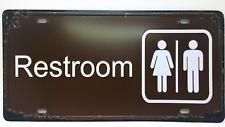 Restroom Sign Retro Plate Door Toilet Vintage Metal Poster Wall Tin Plaque Decor