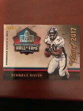 Terrell Davis Panini NFL Pro Football Hall of Fame Class of 2017 Card HOF