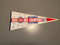 1990 NBA Champions Detroit Pistons Team Autograph Pennant
