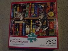Charles Wysocki 750 piece Frederick the Literate cat books jigsaw puzzle New