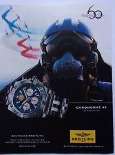 publicité de presse/ MONTRE / BREITLING/Patrouille De France/en 2013/ ref. 62727