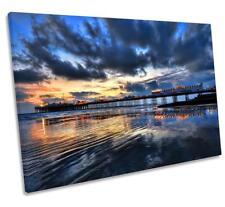 Brighton Pier Sunset CANVAS WALL ART DECO LARGE READY TO HANG NIGHT all siz