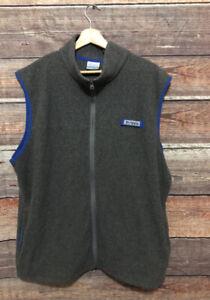 Columbia Pfg Mens Gray Fleece Full Zip Vest XL