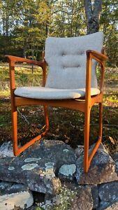 Danish Modern Arm Chair Captains Teak Erik Buch Mid Century Wegner Moller Juhl