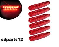 6 x 9 LED 12V Rosso Segnalatore Luce Ingombro Laterale Camion Rimorchio 10cm