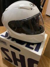 SHOEI RF-1100 Full-Face White Helmet with Clear Lens Size Medium DOT Snell