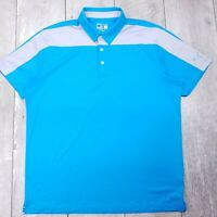 Puma Dry Cell Golf Polo Mens Large Blue Performance Short Sleeve Shirt P119