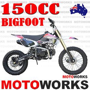 MOTOWORKS 150CC bigfoot OIL COOLED DIRT TRAIL PIT MOTOR 2 WHEELS PRO BIKE pink
