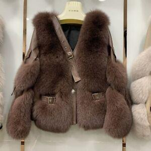 2021 Women Fur Coat Luxury Jacket Winter Genuine Sheepskin Leather Overcoat37931