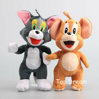 New Tom and Jerry Plush Toy Soft Stuffed Animal Doll Cat Mouse Figure 10'' Teddy